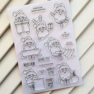 Silikonstempel Clearstamps DIY Scrapbooking Stempelset *349* Weihnachtsmann