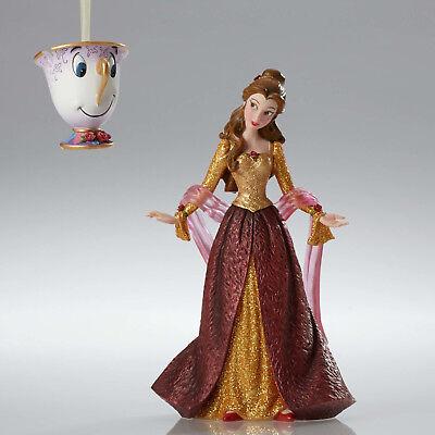 Disney Showcase Belle Christmas Couture de Force w/Chip Figurine - Beauty Beast