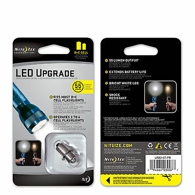 Nite Ize D & C Cell Maglite LED Flashlight Upgrade Kit 55 Lumens LRB2 for sale  Shipping to India