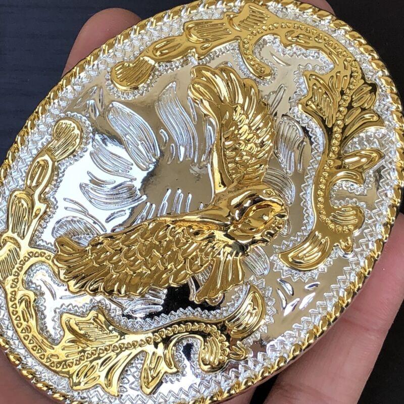 New Eagle Belt Buckle Rodeo American Western 3d Gold Best Quality Men Women