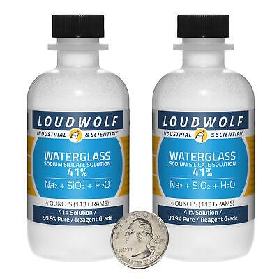 Sodium Silicate 8 Ounces 2 Bottles 99.9 Pure Reagent Grade 41 Solution