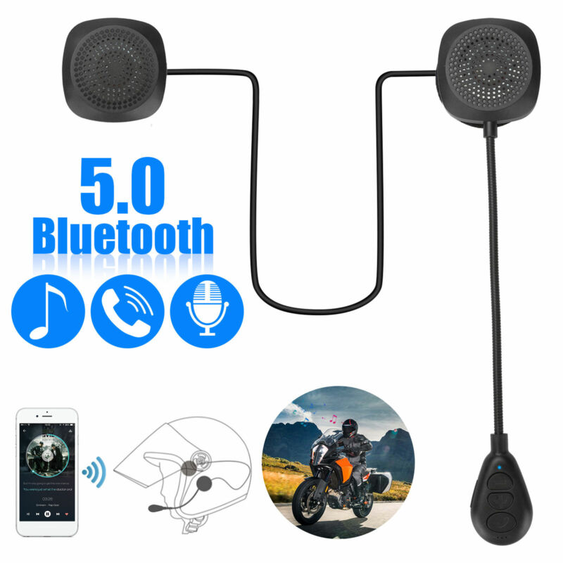 Motorcycle Helmet Headset Wireless Bluetooth 5.0 Headphone Speaker Hands-Free US