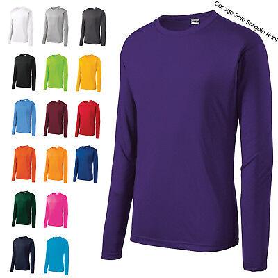 Mens Moisture Wicking Dri Fit Long Sleeve Performance T-shirt XS-4XL ST350LS