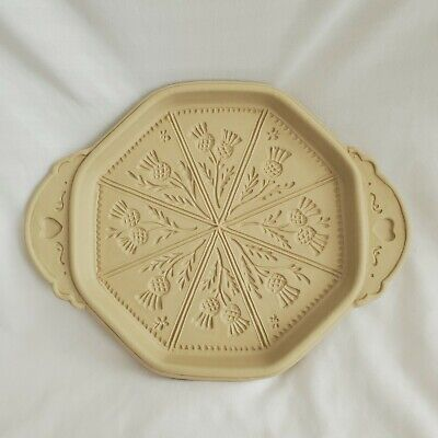 Hill Design Brown Bag Cookie Art Scottish Thistles Ceramic Shortbread Mold Vtg