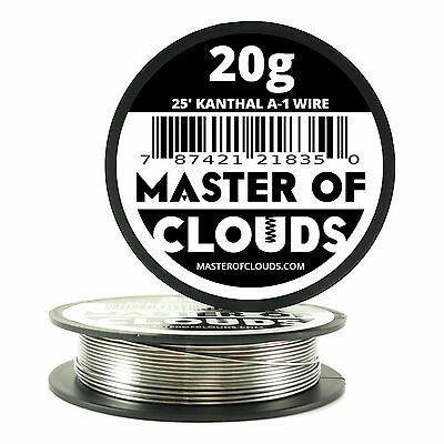25 Ft - 20 Gauge Awg A1 Kanthal Round Wire 0.81mm Resistance A-1 20g Ga 25