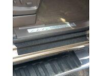 2 x 3D 4 RING LOGO Door Step Emblem plate Sills Interior Exterior Badge Sticker