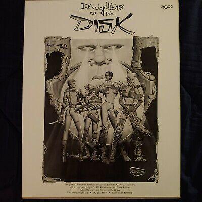 DAUGHTERS OF THE DISK ART PORTFOLIO 6 PRINTS RICH LARSON STEVE FASTNER 1988