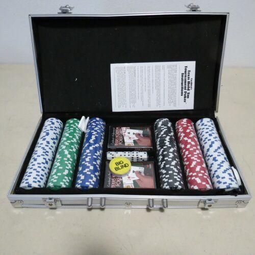 CARDINAL 1399 PROFESSIONAL POKER SET VINTAGE 300 CHIP ALUMINUM CASE 11.5G CHIPS