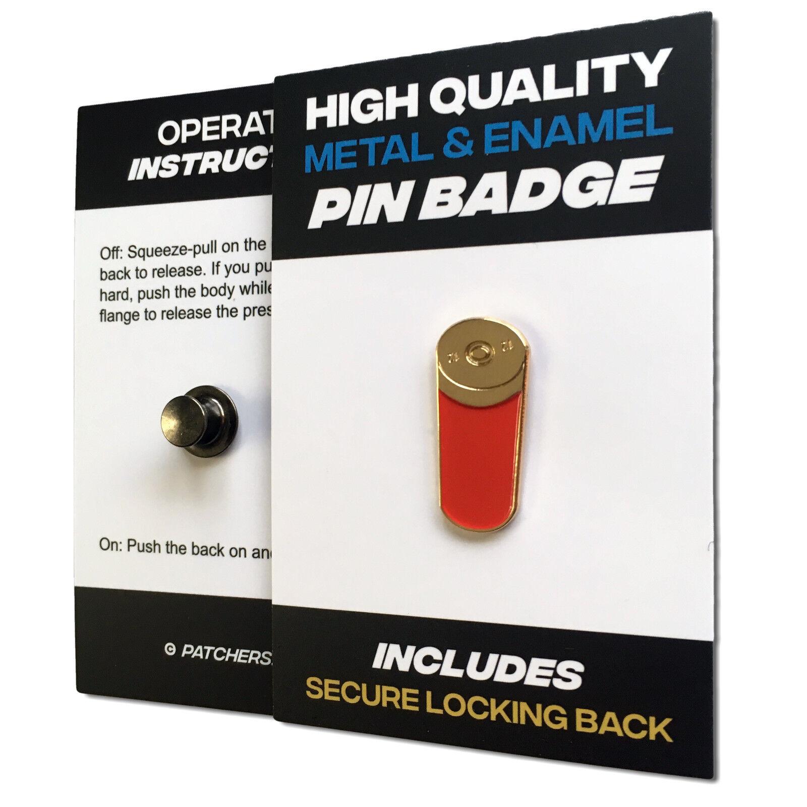 Shooting Huntsman Hunter /& Shotgun Quality enamel lapel pin badge