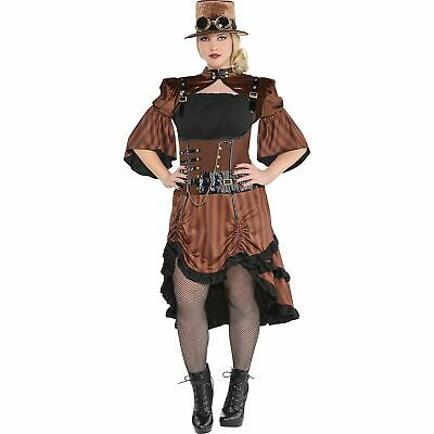 Steamy Dreamy Steampunk Halloween Costume for Women, Plus Size, with Accessories