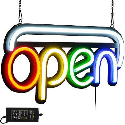 Horizontal Neon Open Sign Light 20x 10 25w Bright Decorations Multicolor