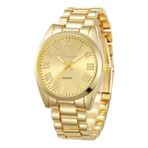 $9.99 - Fashion Luxury Geneva Roman Style Alloy Quartz Girl Women Ladies Wrist Watch