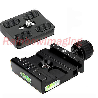 Adapter Plate Square Clamp + Quick Release Plate for Arca-Swiss Tripod BallHead