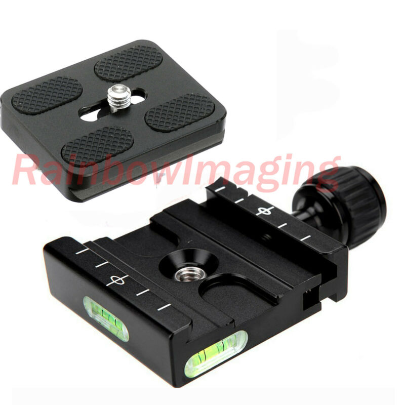 Adapter Plate Square Clamp + Quick Release Plate for Arca-Swiss Tripod Ball Head