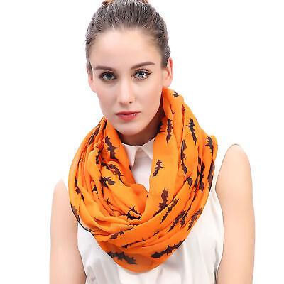 Loop Schal Damen mit Fledermaus-Motiv - Halloween Schal