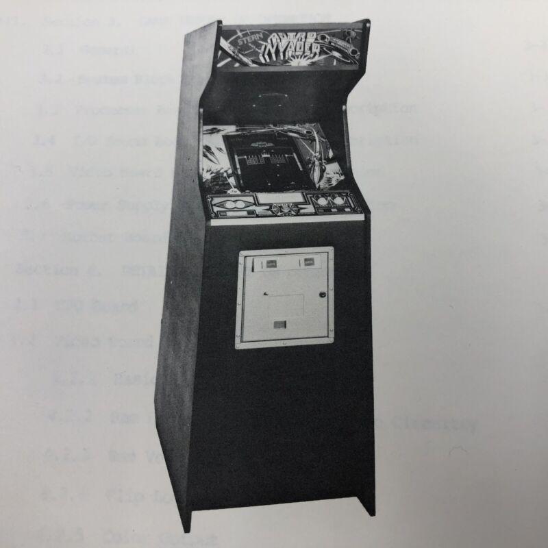 Stern Astro Invader Arcade Machine Game Manuals Schematics Packet Lot