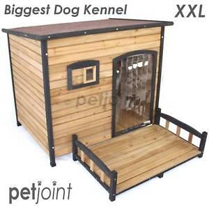 XXL Greyhound Dog House Large Wooden Pet Kennel Outdoor Indoor