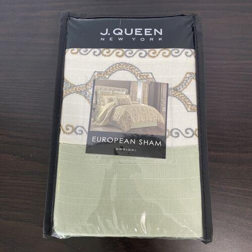 J. Queen New York Vienna Euro Pillow Sham European 26×26 NIP Green Bedding