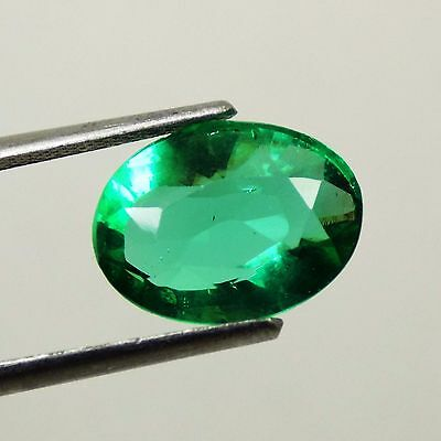 4.20 Ct Natural Oval Beautiful Colombian Green Loose Emerald Gemstone Collect