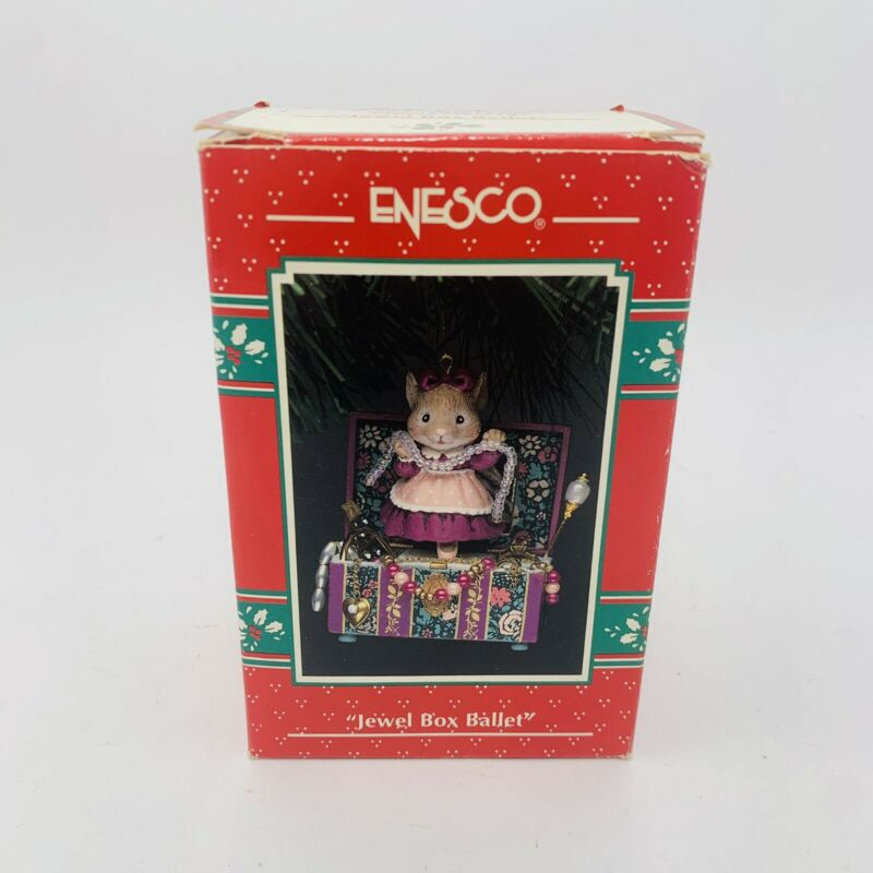 Vintage Enesco Jewel Box Ballet Ornament Treasury of Christmas 1993 K. Hahn