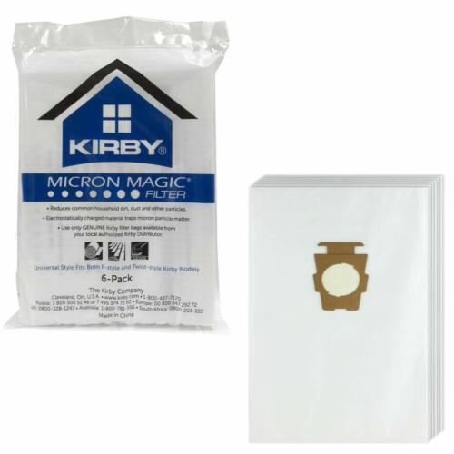 (6) Kirby Vacuum Cleaner Cloth Micron Magic Bags F Style G4 G5 G6 G7 G7D G10D