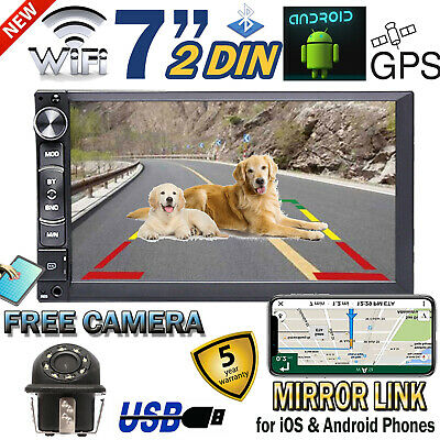 "For Ford F-150 1993-2017 2 DIN Car Stereo Android 7"" GPS WiFi Phone Link&Camera"