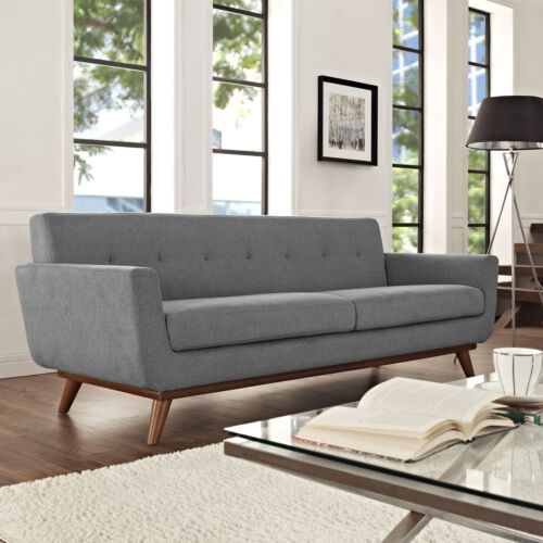 Modway Engage Mid-Century Modern Upholstered Fabric Sofa In