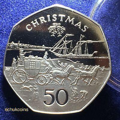 Panel II.1980 Isle of Man Xmas Prooflike 50p (top) & Prooflike 50p Mule Coin (bottom)