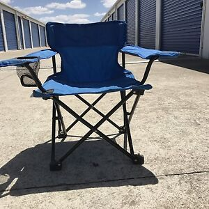 2 Small Blue camping chairs Rippleside Geelong City Preview