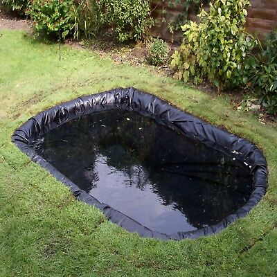Heavy Duty PVC 0.5mm 3m x 4m Garden Pond Liner & Fish Pond Liner
