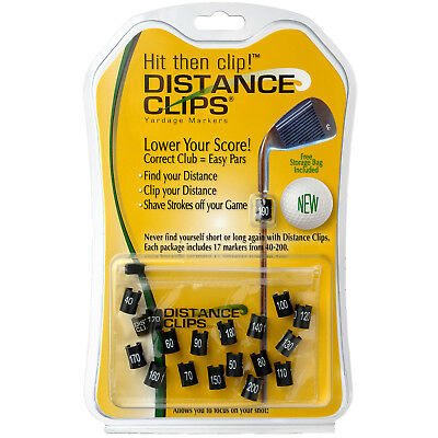 Distance Clips Yardage Markers For Golf Clubs - Clip On Rangefinder Solution