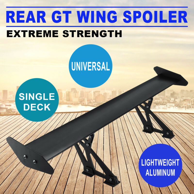 Universal Drift Aluminum Light Weight GT Rear Racing Spoiler Wing Hatch