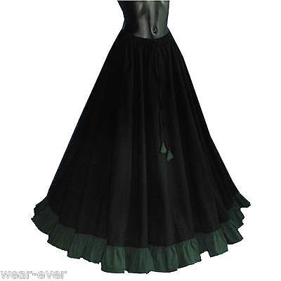 Mittelalter ROCK 7064 schwarz/dunkelgrün gewandung gothic kostüm 40 42 44 46 48