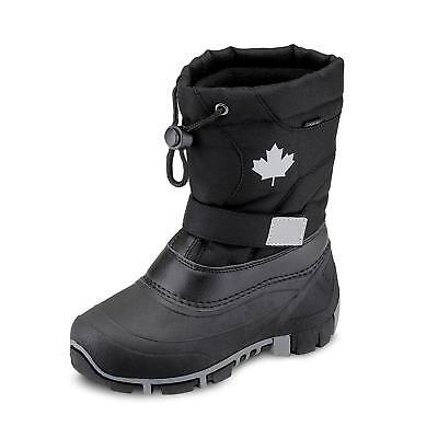 Stiefel Kinder Schwarz (Canadians Kinder Jungen Stiefel Winterstiefel Winterschuhe Klett Schuhe schwarz)