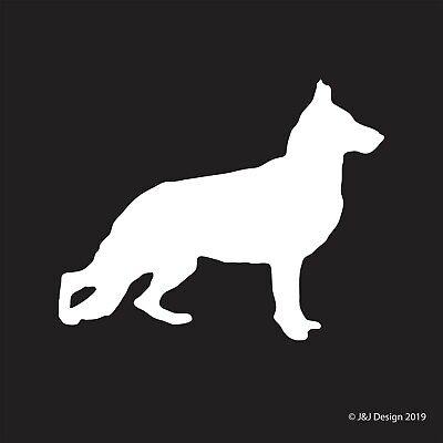 GERMAN SHEPHERD DOG PET SILHOUETTE Vinyl Sticker DECAL