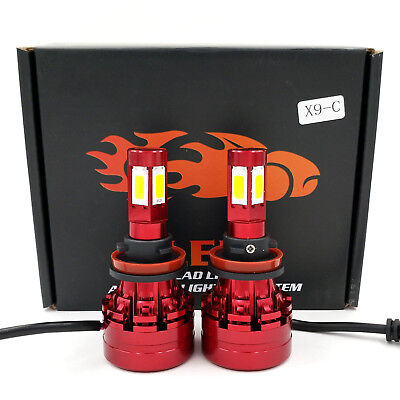 H11 LED Headlight 6000K 2018 1280W 192000LM 4-Side Kit Low Beam Bulbs High Power comprar usado  Enviando para Brazil