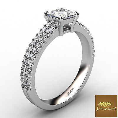 Double Prong Princess Cut Diamond Engagement Ring GIA Certified F Color SI1 1Ct 2