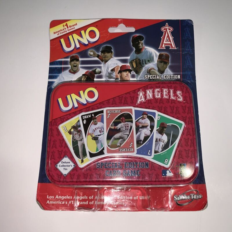 Sababa Toys – UNO MLB – Los Angeles ANGELS '05 Line-Up Special Edition Card Game