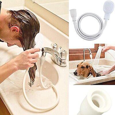 Single Tap Shower Spray Hose Bath Pipe Tub Sink Spray Attachment Head Washing