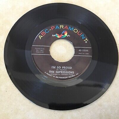 THE IMPRESSIONS - I Made A Mistake / I'M So Proud - 1957 SOUL - FREE SHIPPING