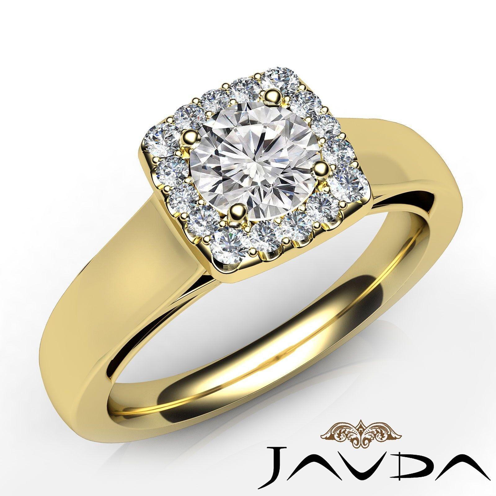 Halo Filigree Round Diamond Engagement Prong Setting Ring GIA E Color VS1 0.7Ct