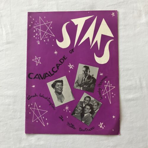 Vtg Cavalcade of Stars Band Music Program Dinah Washington Lou Dailey Herman ++