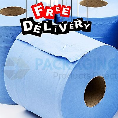 Blue Centrefeed Rolls Embossed 2ply Wiper Paper Towel Per Roll