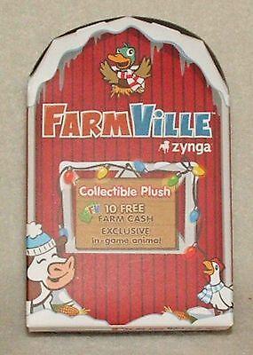 Zynga Farmville Collectable Plush Christmas Ornament  See Animal Selection  New
