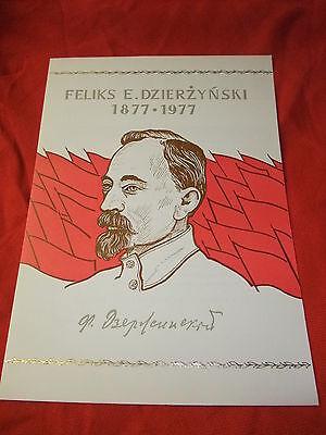 a DDR Kult FDC Ersttagsbrief Gedenkblatt Ersttagsblatt Feliks E Dzierzynski 1977
