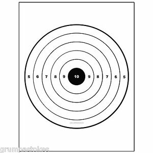 10-Bullseye-Airsoft-Shooting-Targets-Sniper-Rifle-Practice-8-5x11-NEW ...