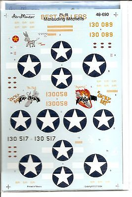 Aeromaster Decal 48-690 Best Sellers Marauding Mitchells Pt.3 B-25