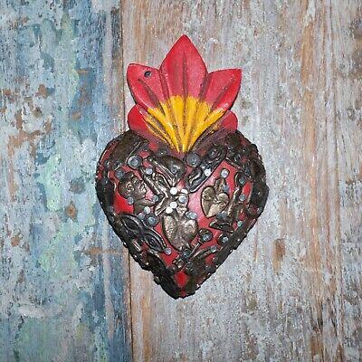 Mexican Milagro Heart Decoration Mini F