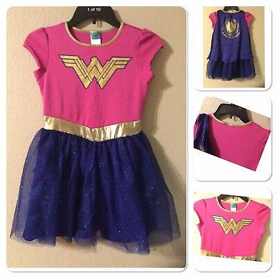 WONDER WOMAN  WARRIOR PRINCESS costume TUTU DRESS GIRLS SIZE  M(7/8/)