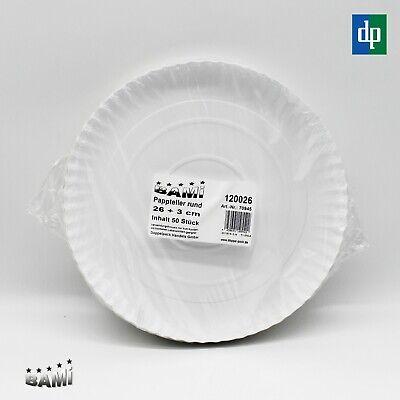 apierteller Partyteller Einweg Teller Pappe Weiß rund 26cm  (Papier Teller Party)